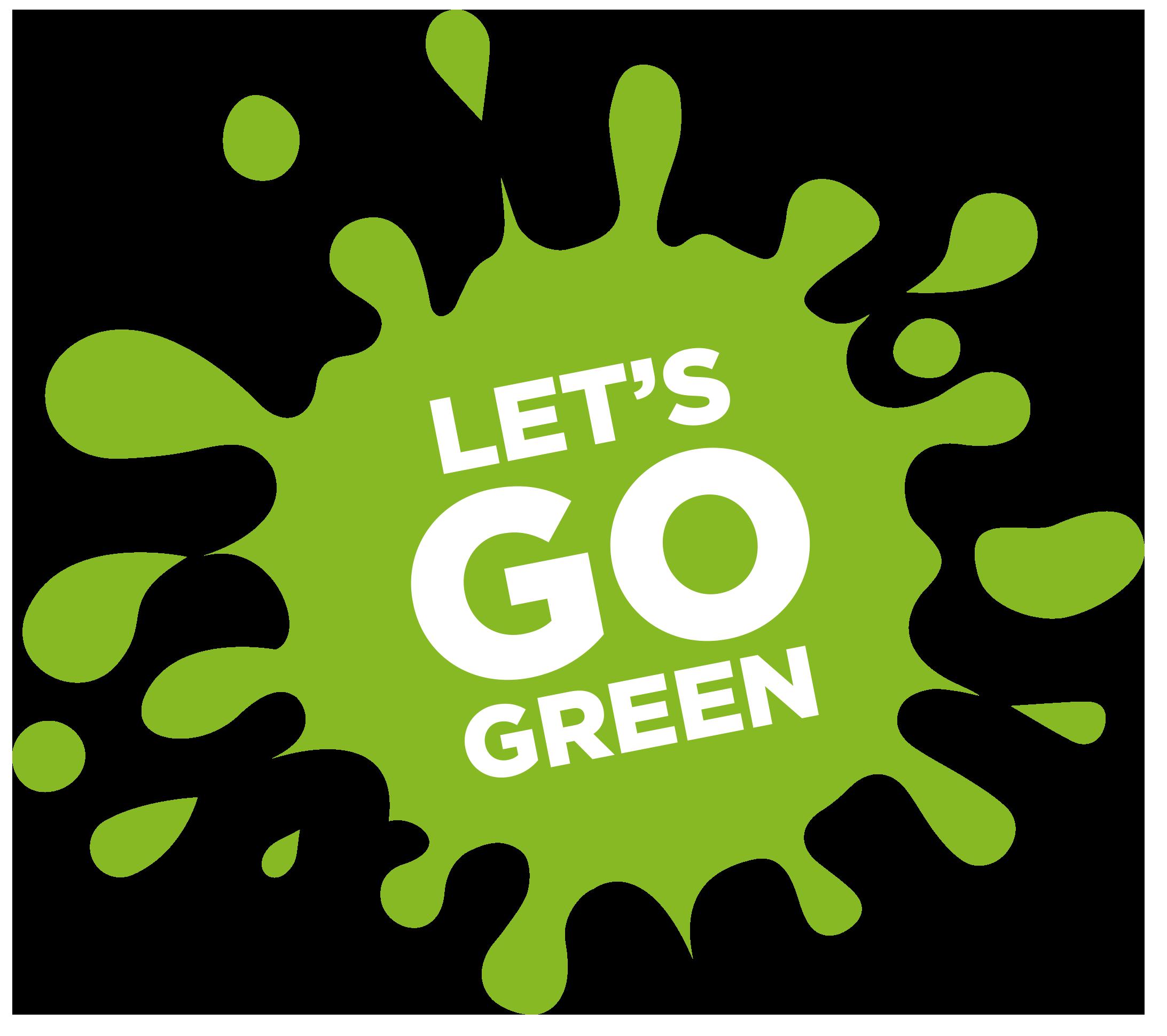 Go Green Vector Typography Banner Stock Illustration