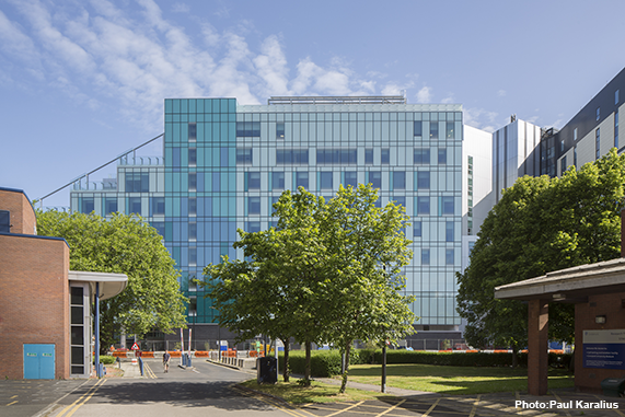 The new Clatterbridge Cancer Centre - Liverpool where inpatients are now being treated